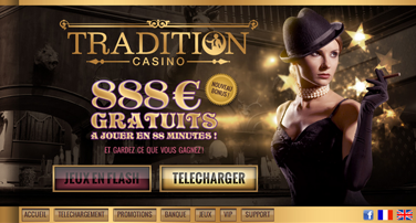 capture d'écran du tradition casino